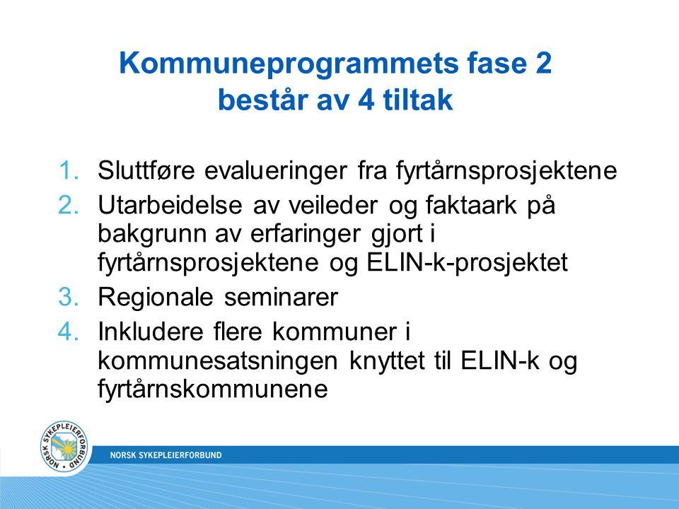 Inkludering av nye kommuner knyttet til ELIN-k og fyrtårnskommunene NSF/ELIN-k har fått prosjektlederansvar i oppdrag av SHdir Prosjektperiode 25.08.07 – 28.02.08 Prosjektorganisering: Styrings- og prosjektgruppen til ELIN-k.