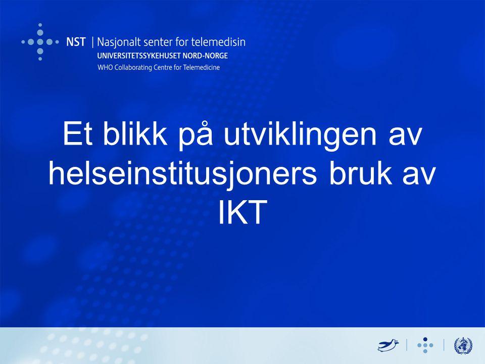 Et blikk på utviklingen av helseinstitusjoners bruk av IKT