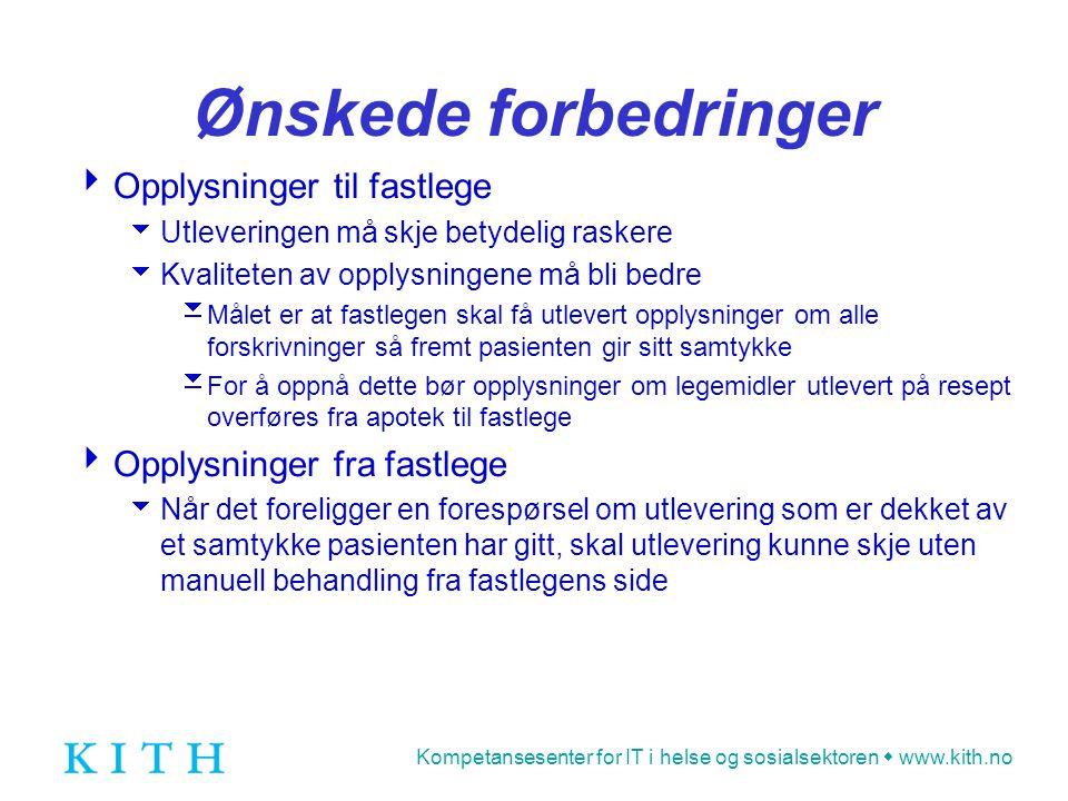 Kompetansesenter for IT i helse og sosialsektoren  www.kith.no Eksempel: Kontaktoversikt Orkdal sykehus▲▲ ▲ ▲ Kristiansund ▲ St.