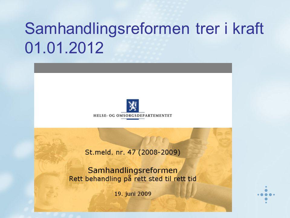 Samhandlingsreformen trer i kraft 01.01.2012