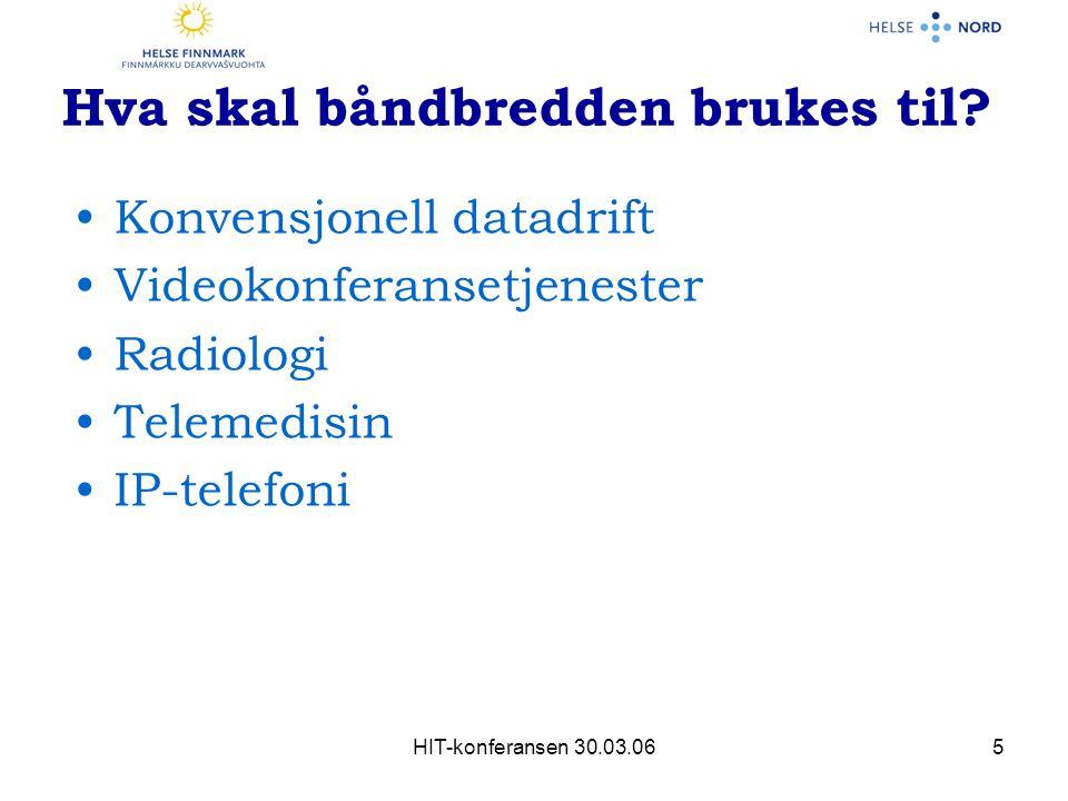 HIT-konferansen 30.03.065 Hva skal båndbredden brukes til.