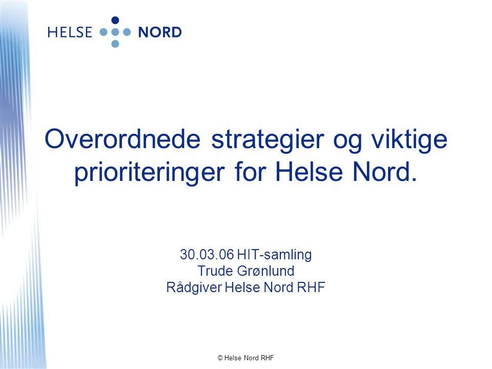 © Helse Nord RHF Nord-Norge + Svalbard A V S T A N D E R - geografisk sammenligning BODØ Sirkler med samme diameter