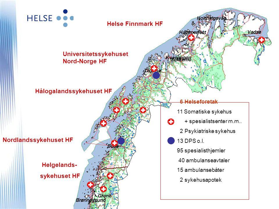 © Helse Nord RHF Nøkkeltall 2006 Nord-Norges største virksomhet Omsetning ca 9,7 mrd NOK –Ca 11.600 ansatte, ca 9.500 årsverk –70% av kostnadene er lønn –Innkjøpsvolum Helse Nord ca 1,5 mrd, ekskl.