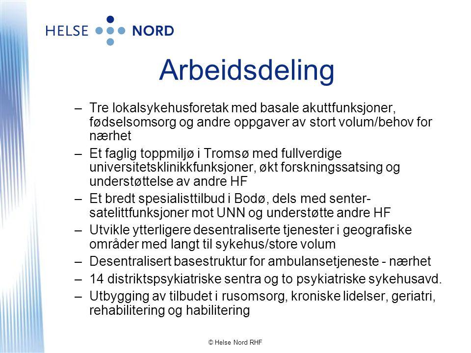 © Helse Nord RHF Hvilke strukturelle endringer er nødvendig.