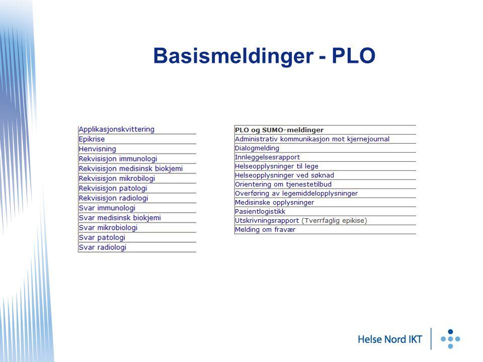 Basismeldinger - PLO