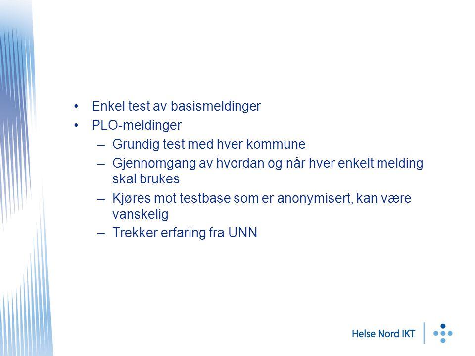 Avtaler Avtalen mellom HF og kommune –Utkast laget av FUNNKe –Skal forhandles i juni –Underskrives i juli http://www.telemed.no/tjenesteavtale-nr-9-samhandling-om- ikt-loesninger-lokalt.5041372-164942.htmlhttp://www.telemed.no/tjenesteavtale-nr-9-samhandling-om- ikt-loesninger-lokalt.5041372-164942.html