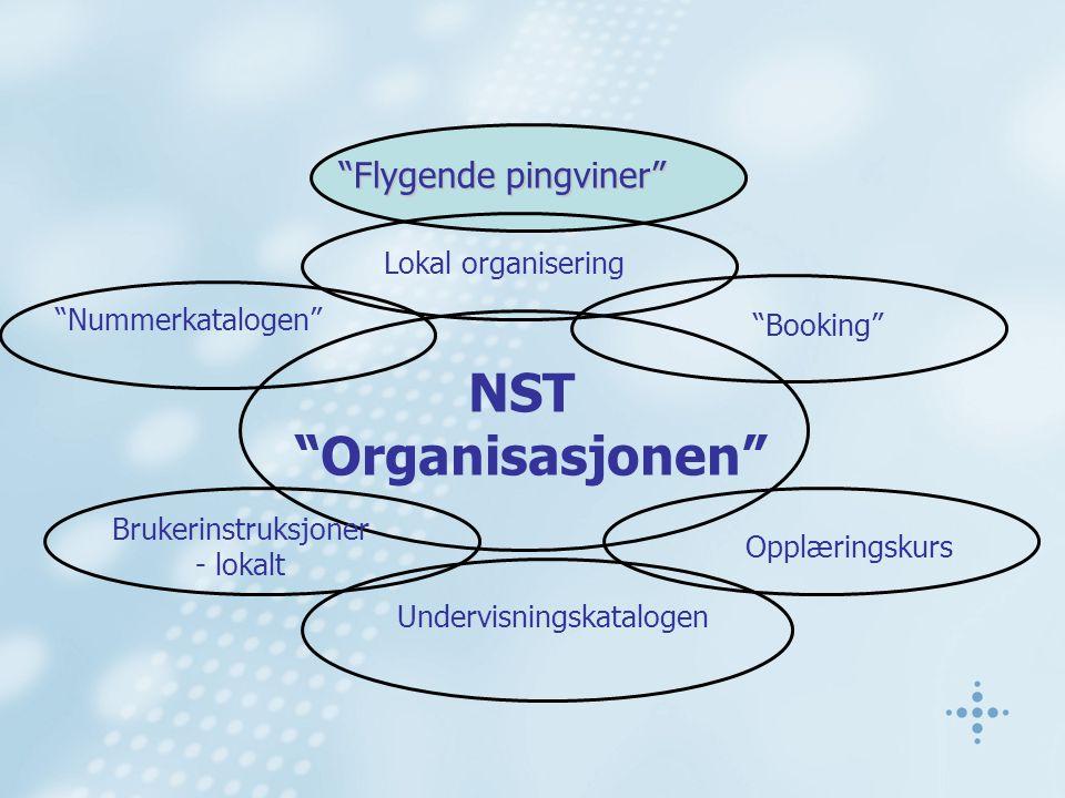 """""""Nummerkatalogen"""" NST """"Organisasjonen"""" """"Flygende pingviner"""" Lokal organisering """"Booking"""" Opplæringskurs Undervisningskatalogen Brukerinstruksjoner - l"""