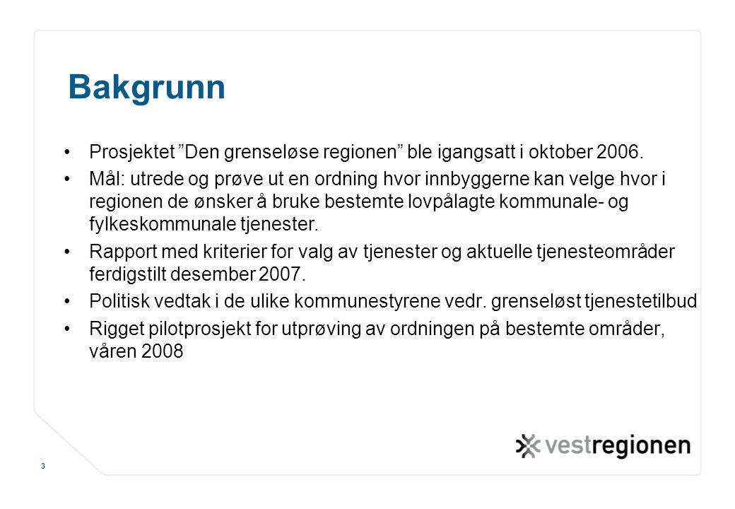 """www.osloregionen.no 3 Bakgrunn Prosjektet """"Den grenseløse regionen"""" ble igangsatt i oktober 2006. Mål: utrede og prøve ut en ordning hvor innbyggerne"""