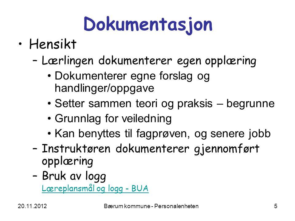 20.11.2012 Bærum kommune - Personalenheten 16 Verdier Hvilke verdier kommuniserer du til barn/pasienter, kolleger, lærlinger.