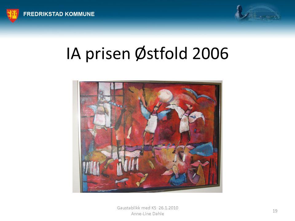 IA prisen Østfold 2006 Gaustablikk med KS 26.1.2010 Anne-Line Dahle 19