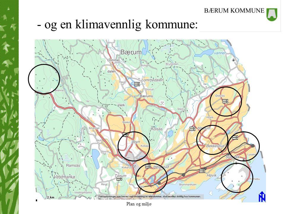 Plan og miljø - og en klimavennlig kommune: