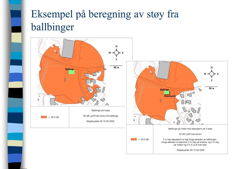Eksempel på beregning av støy fra ballbinger