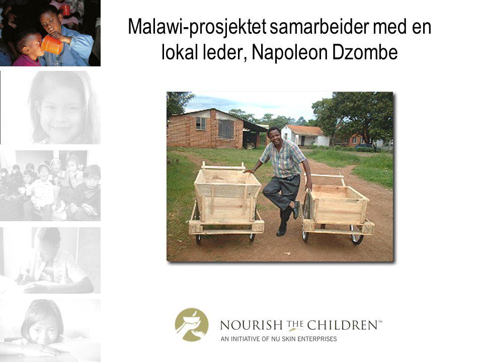 Malawi-prosjektet samarbeider med en lokal leder, Napoleon Dzombe