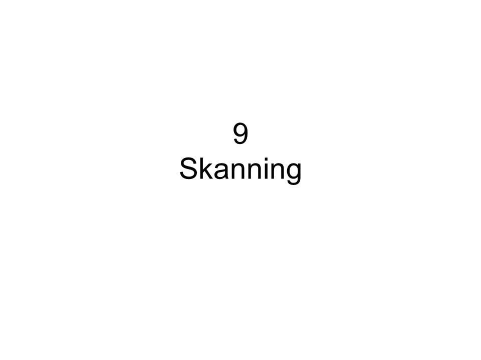 9.1 Skanning er å finne fram til temaer, ord og opplysninger Skanning kalles også søking eller letelesing Hensikten med skanning er å finne fram til bestemte temaer, ord eller opplysninger i en tekst.