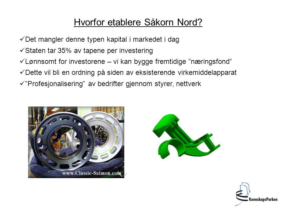 Innovasjons- program Salten Nordland Invest AS Såkornfond Innovasjonsprogram Salten må skape en kommersiell aktør Banker.