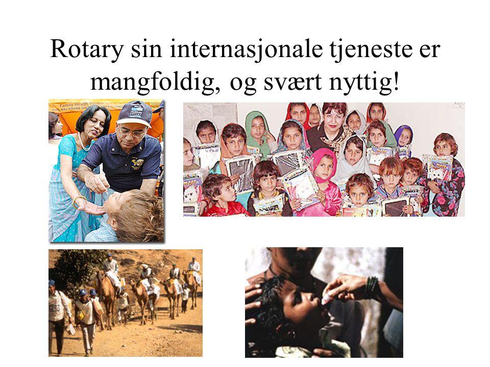 Rotary sin internasjonale tjeneste er mangfoldig, og svært nyttig!