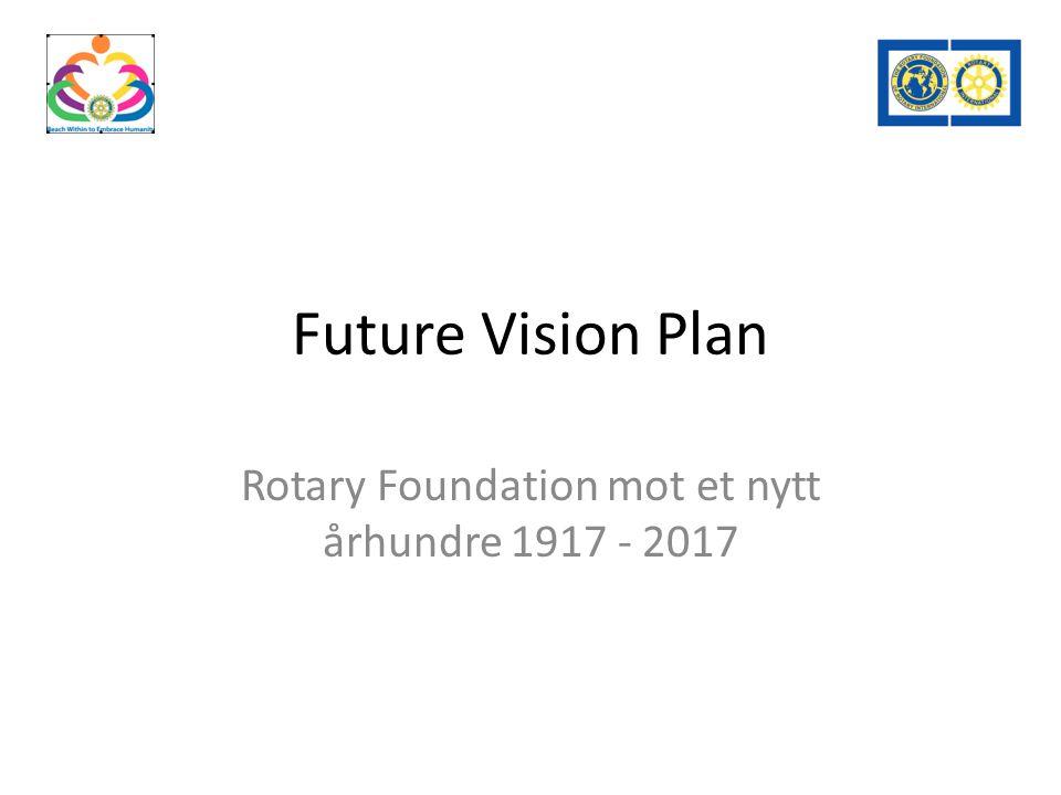 Future Vision Plan Rotary Foundation mot et nytt århundre 1917 - 2017