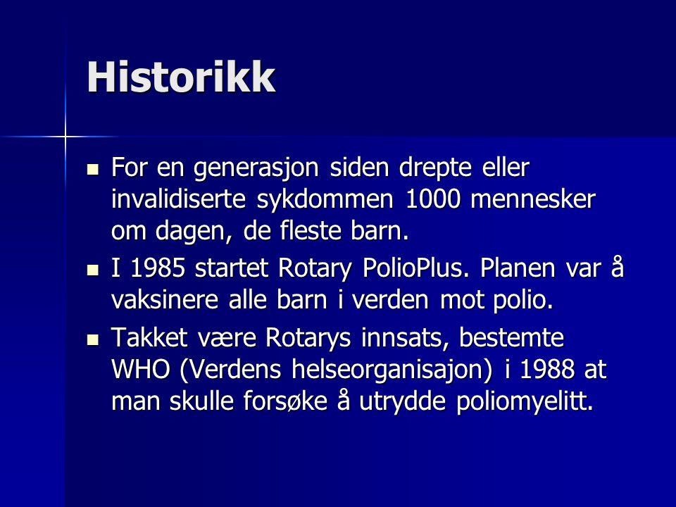 Historikk For en generasjon siden drepte eller invalidiserte sykdommen 1000 mennesker om dagen, de fleste barn.