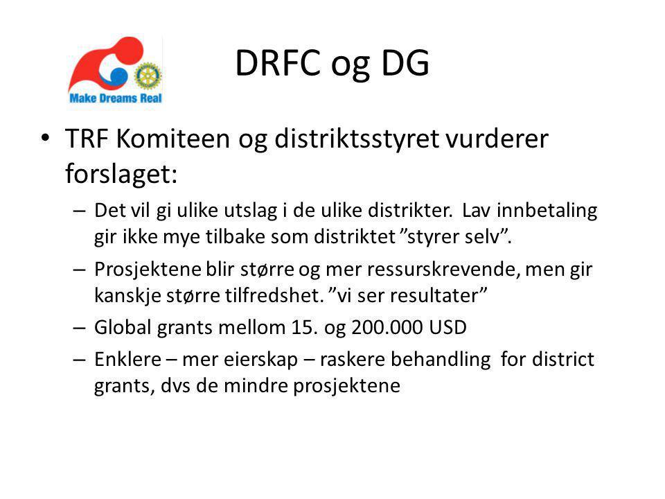 DRFC og DG TRF Komiteen og distriktsstyret vurderer forslaget: – Det vil gi ulike utslag i de ulike distrikter.