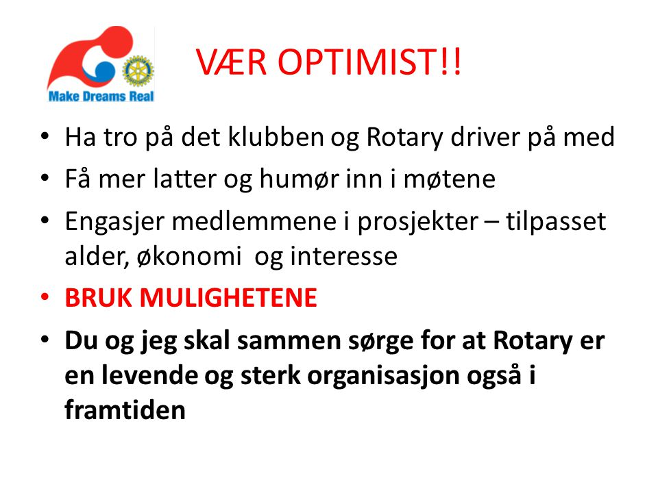 VÆR OPTIMIST!.