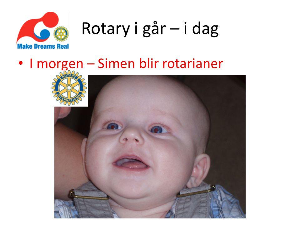 Morgendagens Rotary En konsekvens av dagens planer, valg og handling Viktig at vi planlegger – OG HANDLER RI og TRF har gjort mange endringer, bl.a.