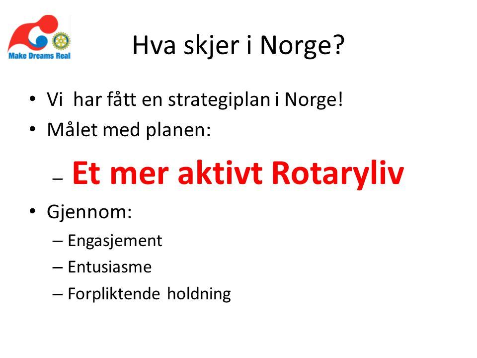 Hva skjer i Norge. Vi har fått en strategiplan i Norge.