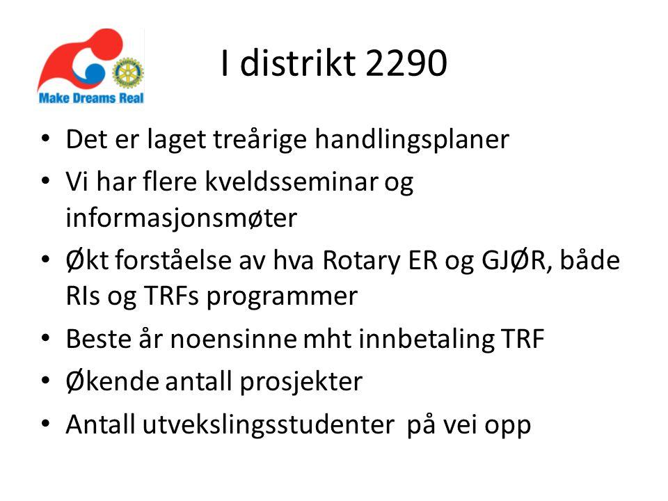 For å komme oss videre Kunnskap om Rotary og om strategiplanen!!!.