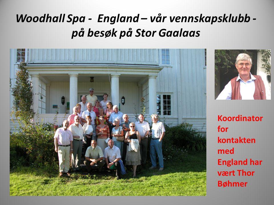 Woodhall Spa - England – vår vennskapsklubb - på besøk på Stor Gaalaas Koordinator for kontakten med England har vært Thor Bøhmer