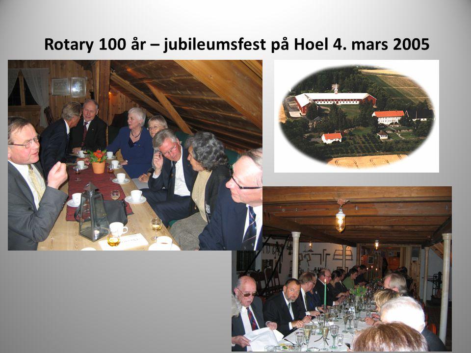 Rotary 100 år – jubileumsfest på Hoel 4. mars 2005