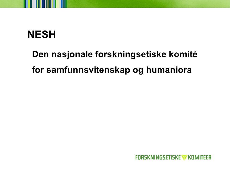 NESH Den nasjonale forskningsetiske komité for samfunnsvitenskap og humaniora