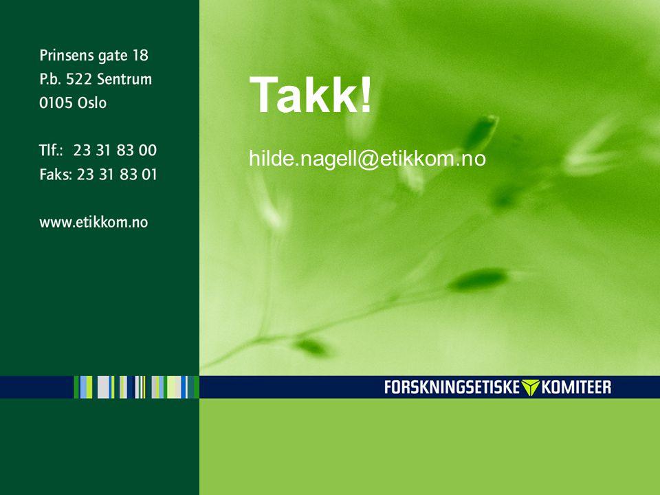 Takk! hilde.nagell@etikkom.no
