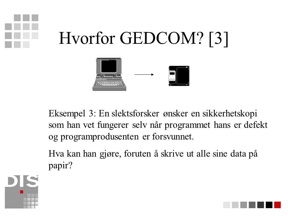 Litt historie Idé unnfanget 1987 i Föreningen DIS i Sverige DIS-Norge kom tidlig inn i utviklingen, er ansvarlig for søkemuligheten på Internett Funksjonaliteten utviklet mye, spesielt er sammenligingsfunksjonene blitt mye bedre I 2000 ble en ny versjon sluppet.
