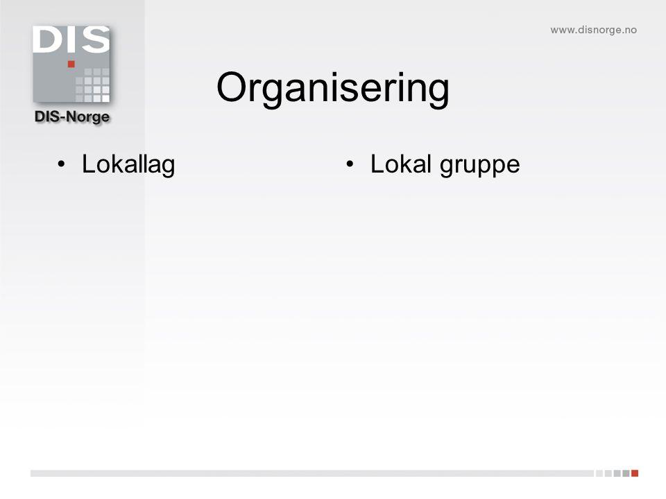 Organisering LokallagLokal gruppe