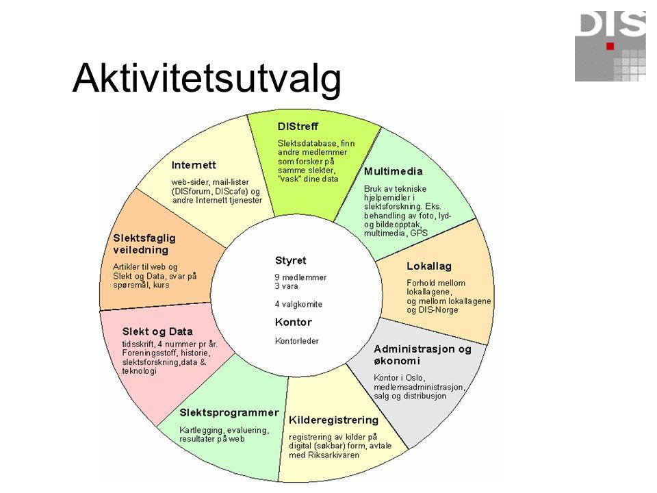 Landsmøte DIS-Norge Styre 19 Lokallag Brukergrupper Aktivitetsutvalg