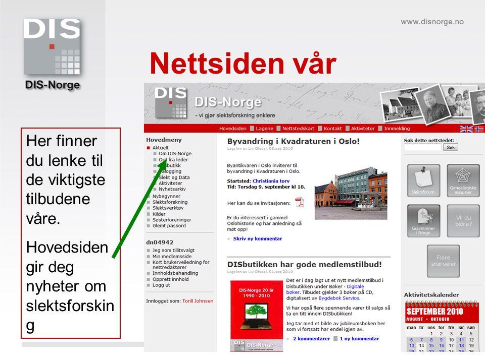 Blogg med ny informasjon