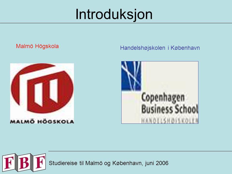 Copenhagen Business S.(CBS) Studiereise til København, juni 2006 Fakta: Opprettet: 1918 Antall Studenter: 14 000 Bachelor, master og Ph.D.