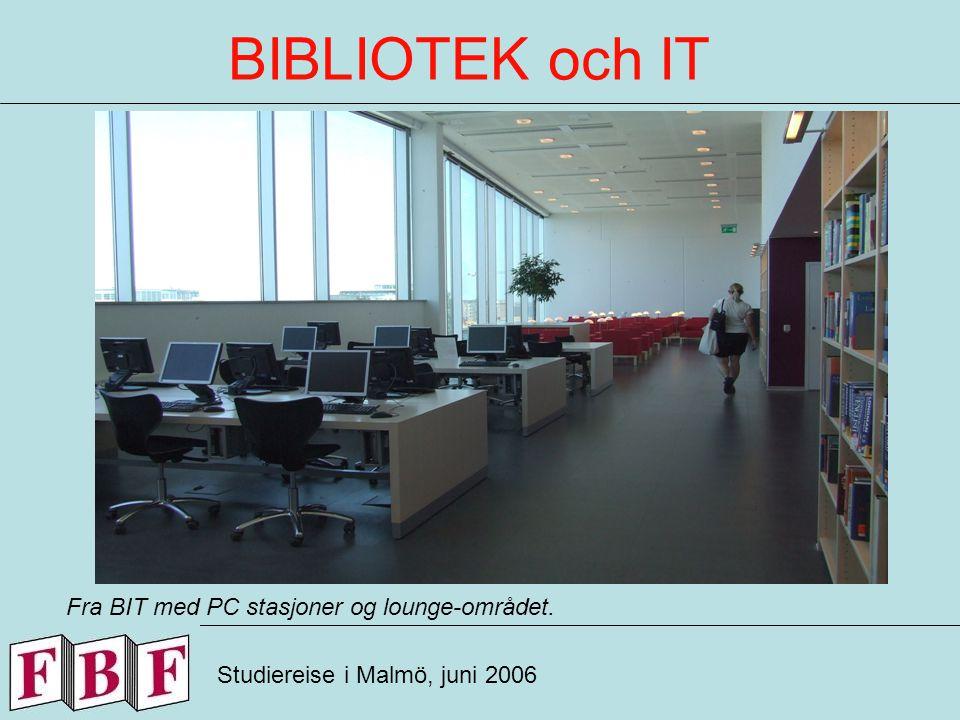BIBLIOTEK och IT Studiereise i Malmö, juni 2006 Fra BITs lounge for avslappning.