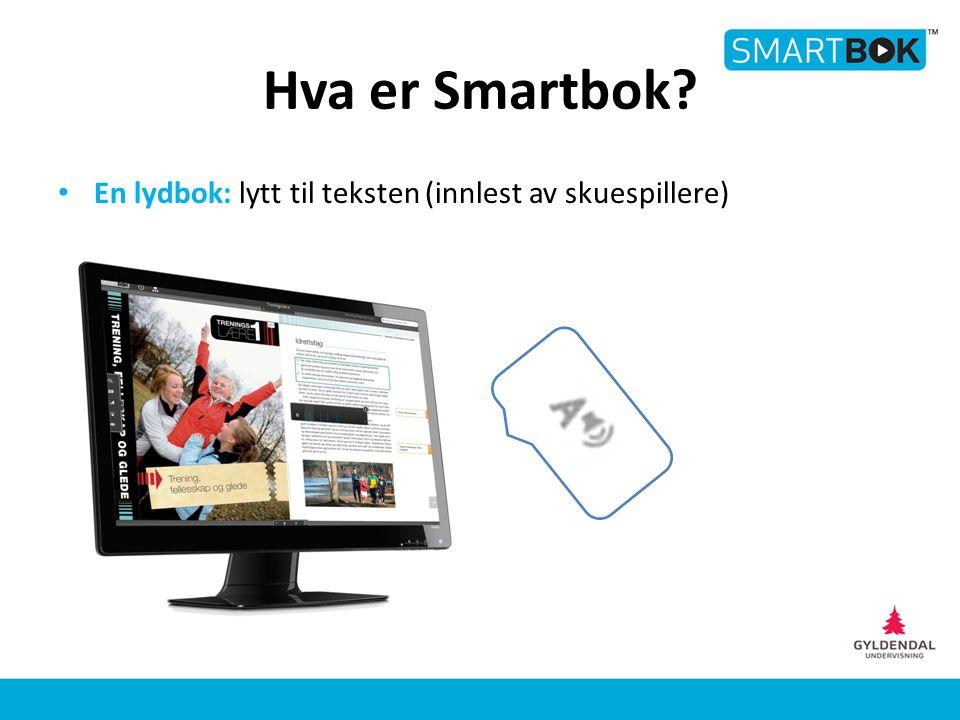 Hva er Smartbok? En lydbok: lytt til teksten (innlest av skuespillere)