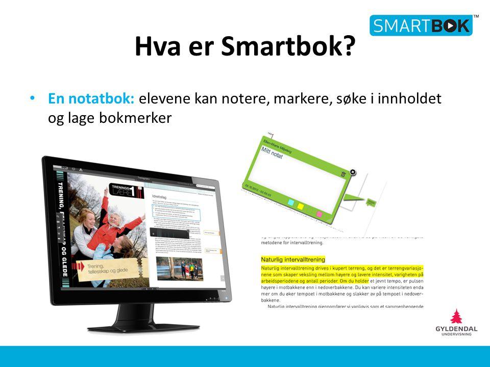 Smartbok Verktøy og funksjoner