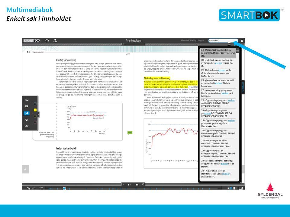 Multimediabok Enkelt søk i innholdet
