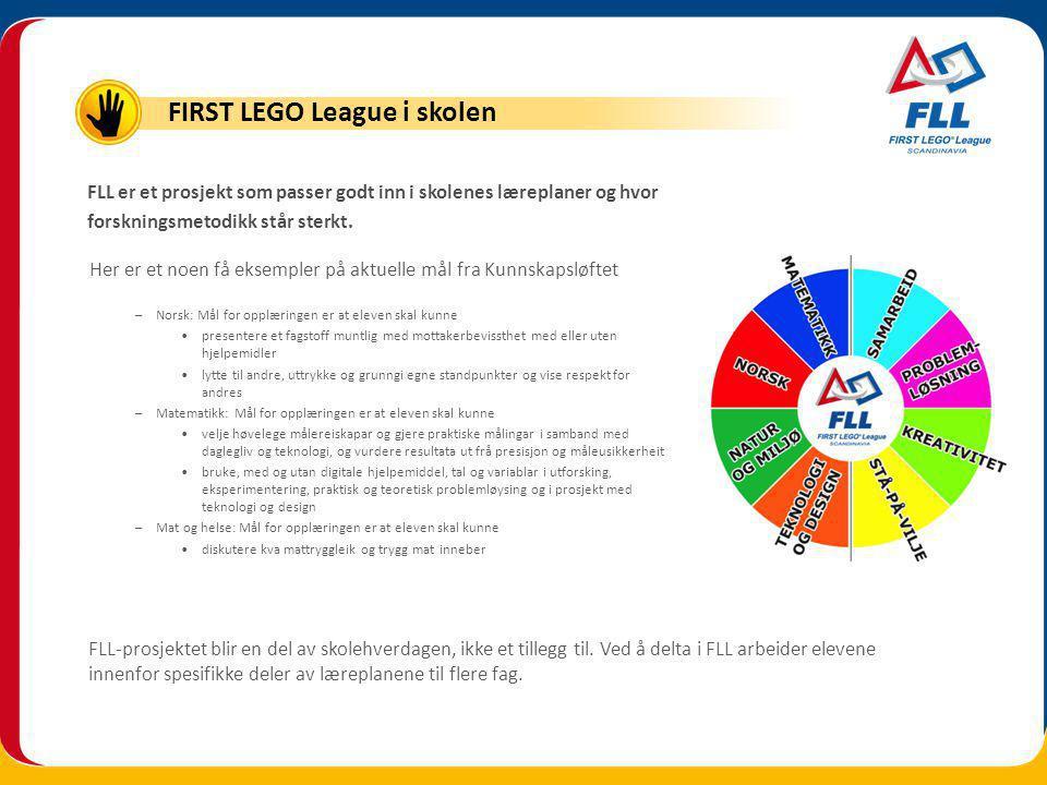 FLL-prosjektet blir en del av skolehverdagen, ikke et tillegg til.