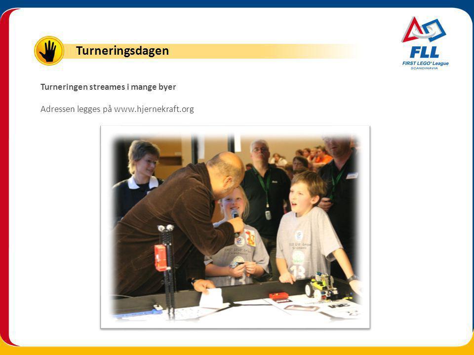 Turneringen streames i mange byer Adressen legges på www.hjernekraft.org Turneringsdagen