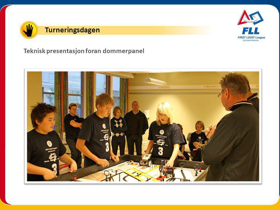 Teknisk presentasjon foran dommerpanel Turneringsdagen