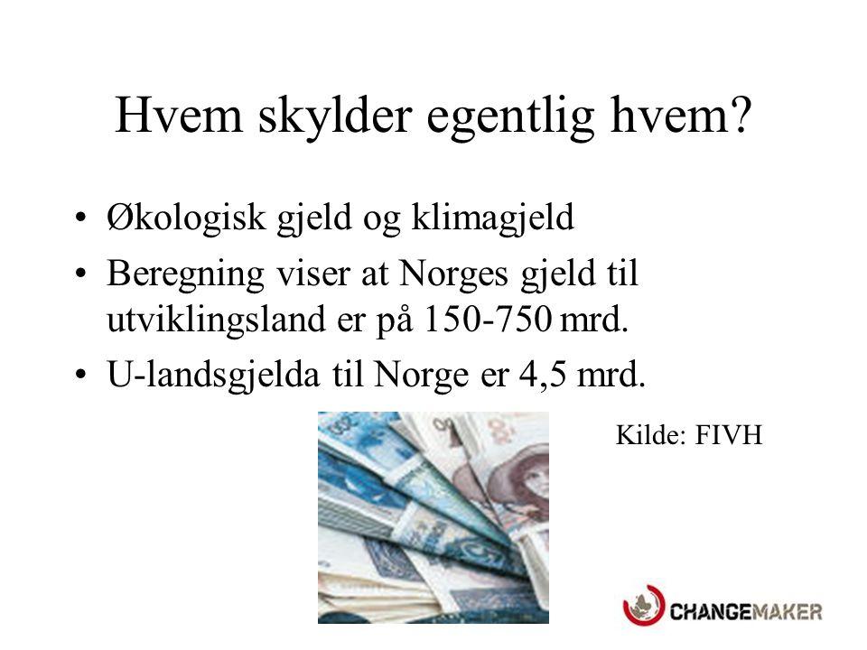 Bistand Norge er et av de landene i verden som har tjent mest penger på fossile brensler.