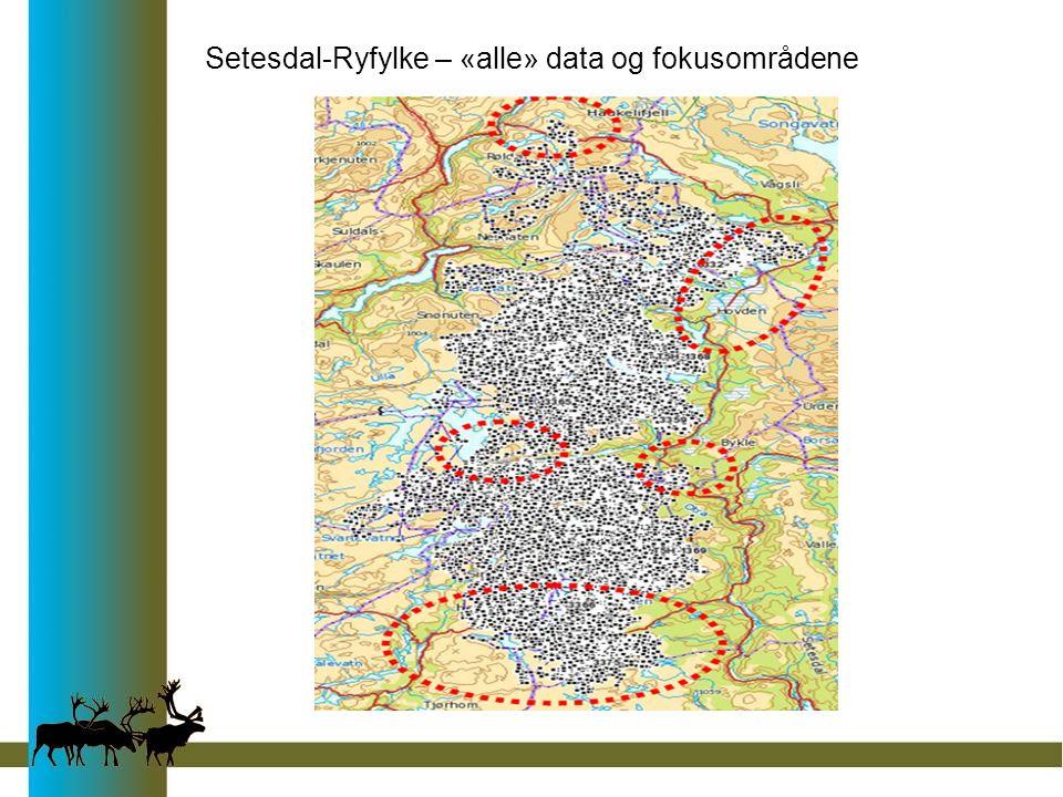 Setesdal-Ryfylke – «alle» data og fokusområdene