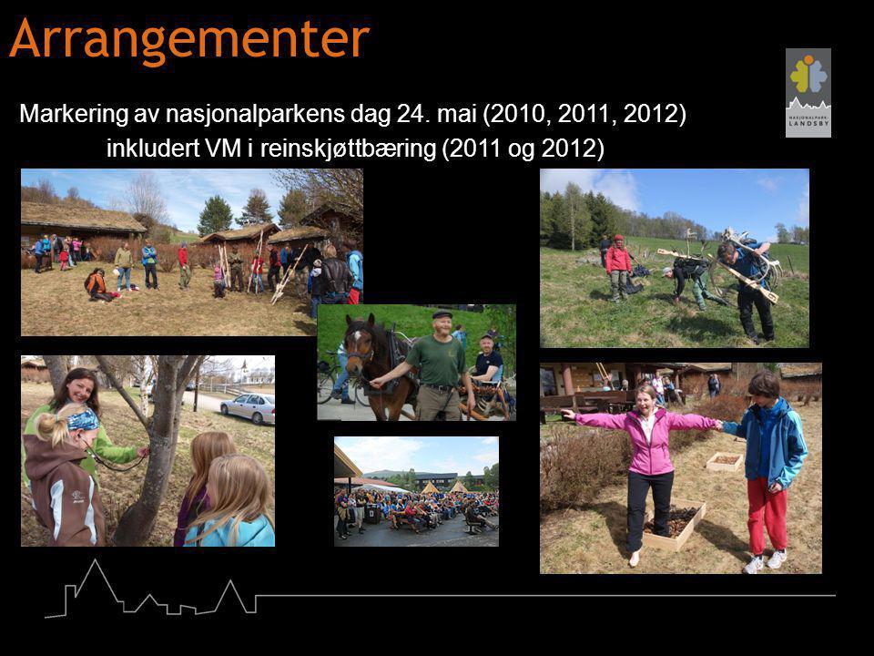 Arrangementer Markering av nasjonalparkens dag 24. mai (2010, 2011, 2012) inkludert VM i reinskjøttbæring (2011 og 2012)