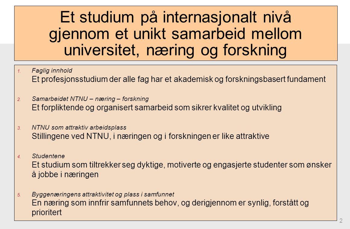 2 Et studium på internasjonalt nivå gjennom et unikt samarbeid mellom universitet, næring og forskning 1.