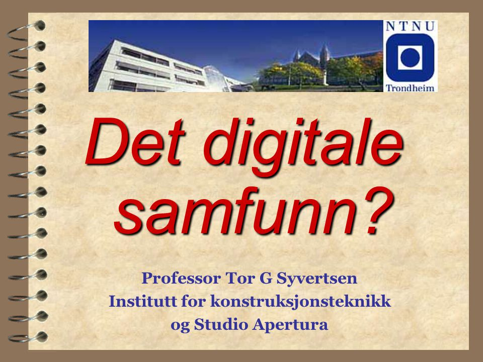 Det digitale samfunn.