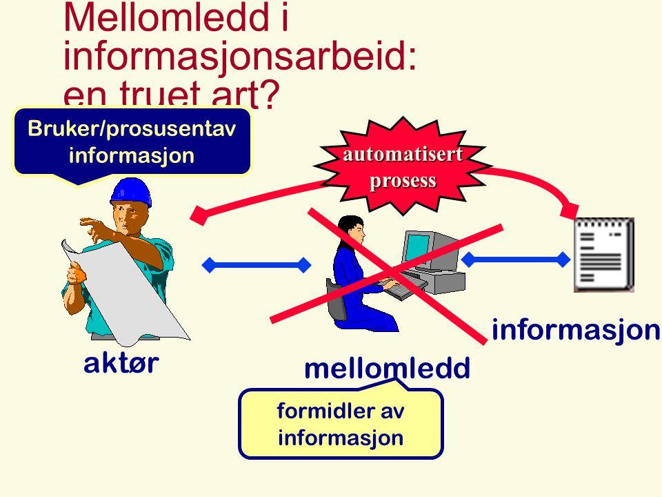 Mellomledd i informasjonsarbeid: en truet art.