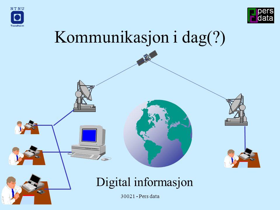 16.01.9830021 - Pers data Kommunikasjon i dag( ) Digital informasjon